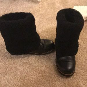 UGG Australia black fuzzy boots